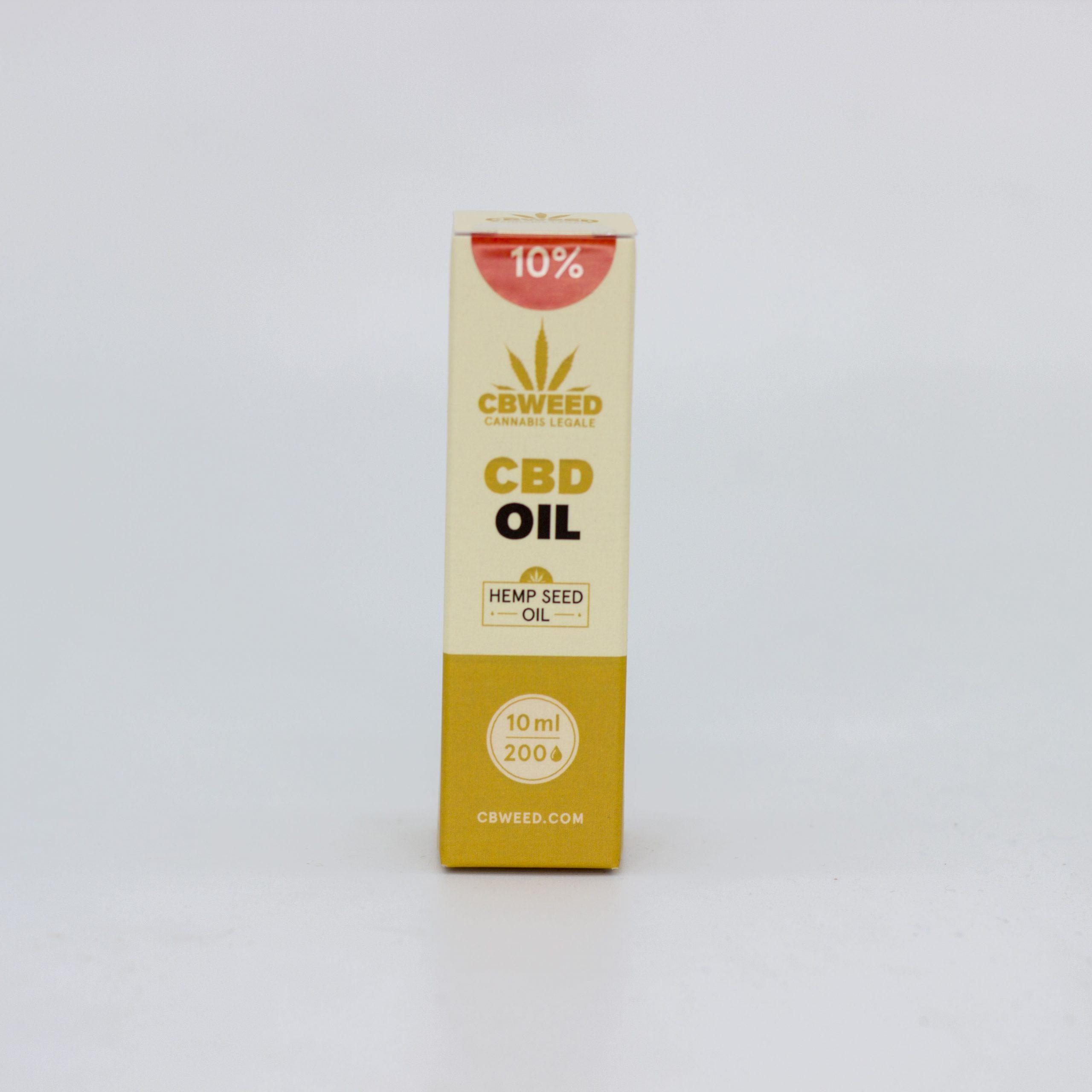 10� olio canapa scaled - Olio CBD con Olio di Semi di Canapa - 10% CBD - 10ml