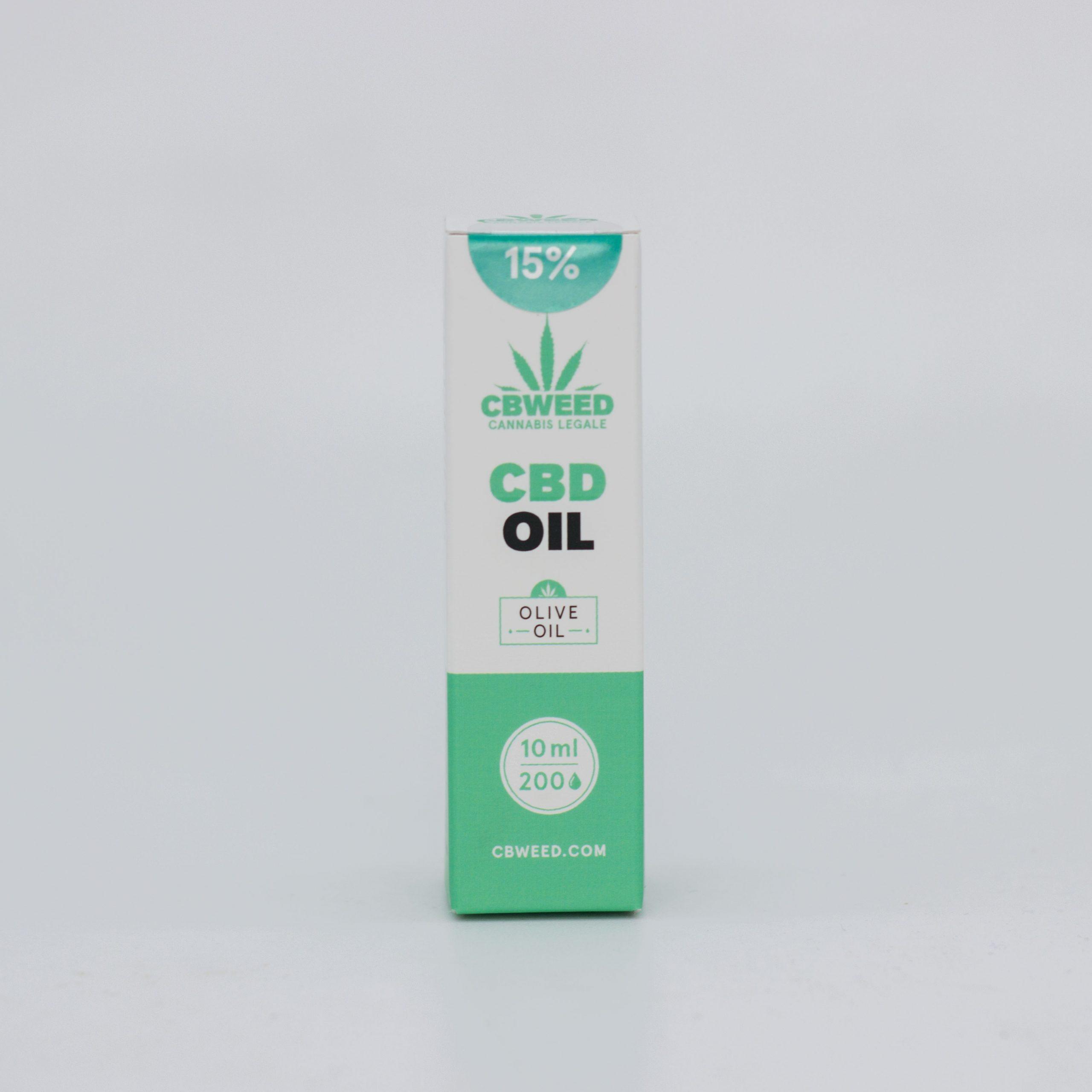 15� olio Oliva scaled - Olio CBD con Olio d'Oliva - 15% CBD - 10ml