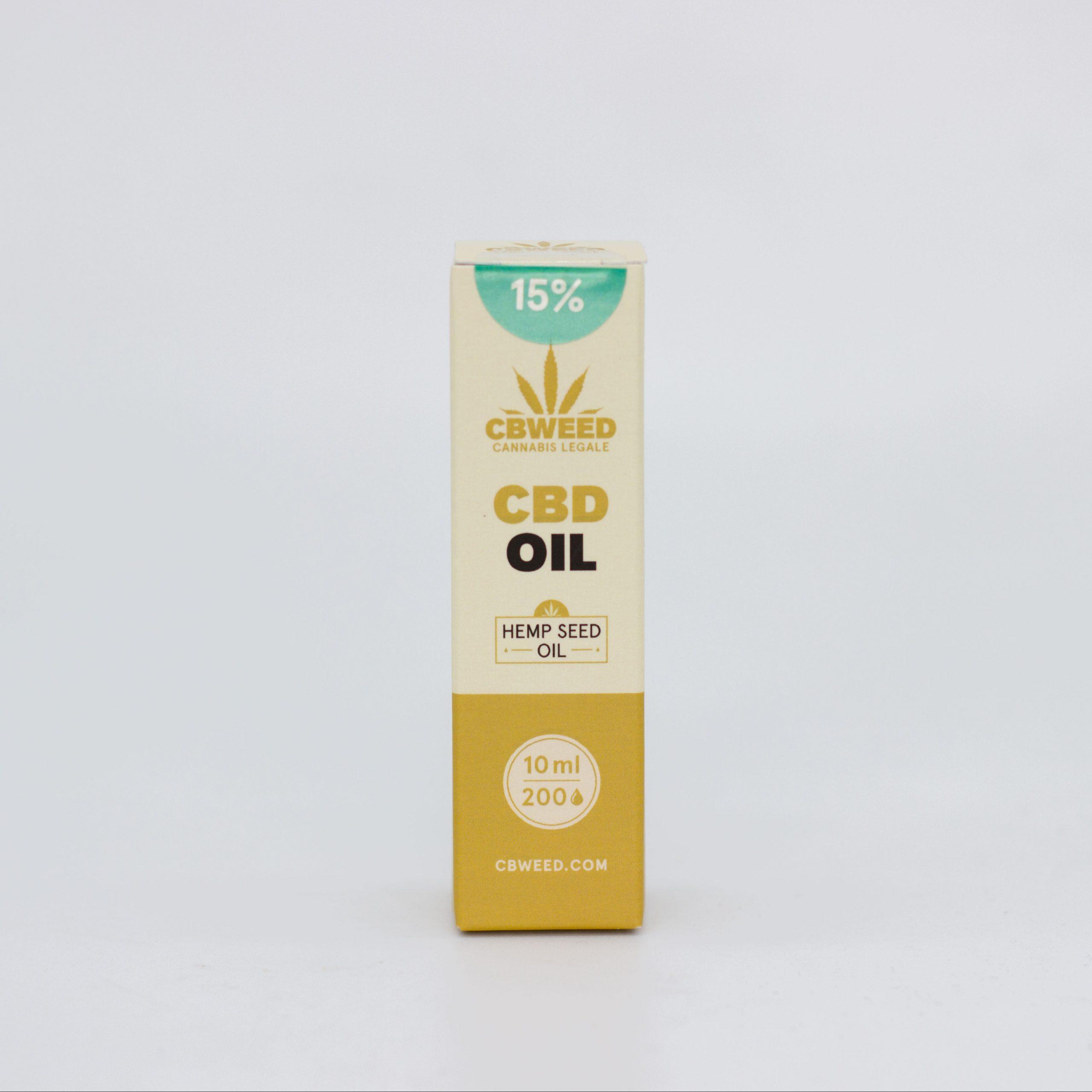 15� olio canapa scaled - Olio CBD con Olio di Semi di Canapa - 15% CBD - 10ml