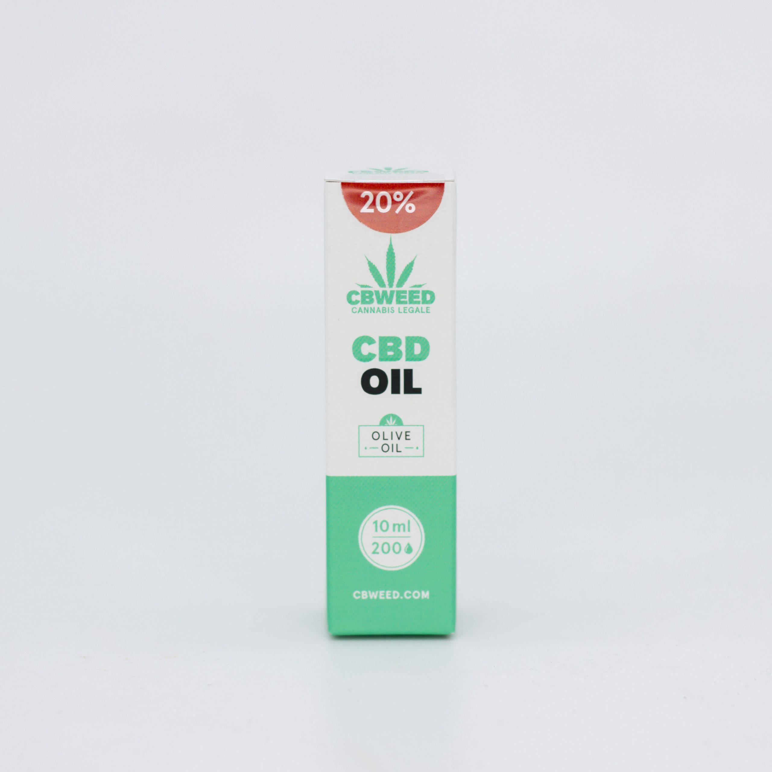 20� olio Oliva scaled - Olio CBD con Olio d'Oliva - 20% CBD - 10ml