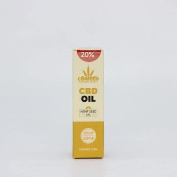Olio CBD con Olio di Semi di Canapa – 20% CBD – 10ml