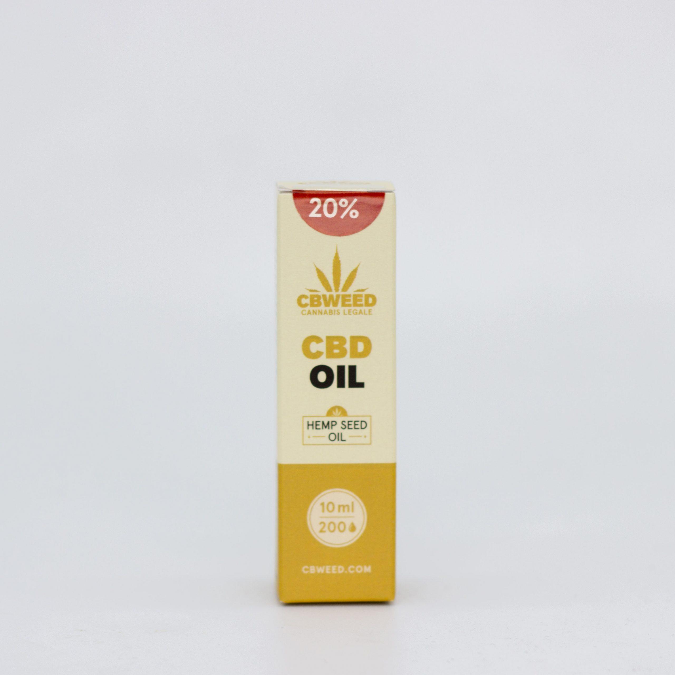 20� olio canapa scaled - Olio CBD con Olio di Semi di Canapa - 20% CBD - 10ml