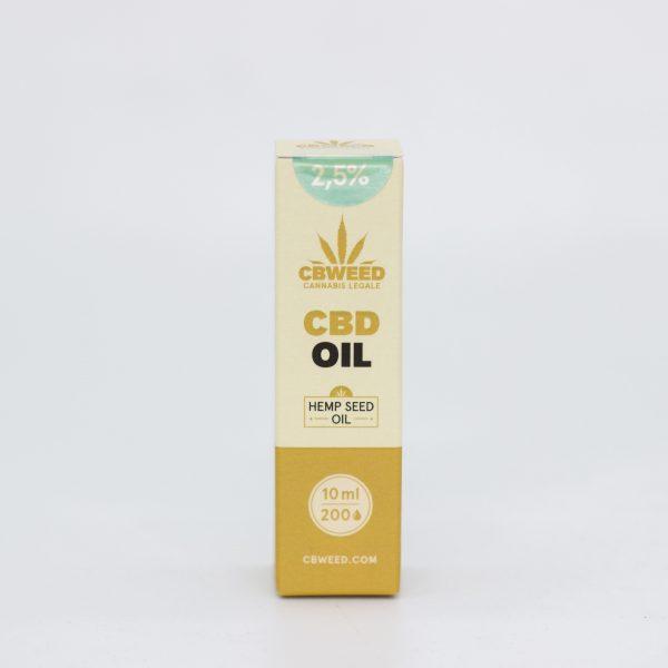 Olio CBD con Olio di Semi di Canapa – 2,5% CBD – 10ml
