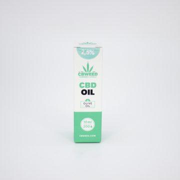 Olio CBD con Olio d'Oliva – 2,5% CBD – 10ml