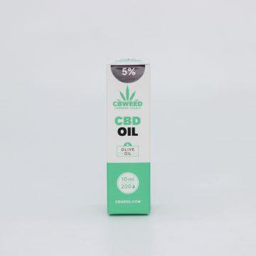 Olio CBD con Olio d'Oliva – 5% CBD – 10ml