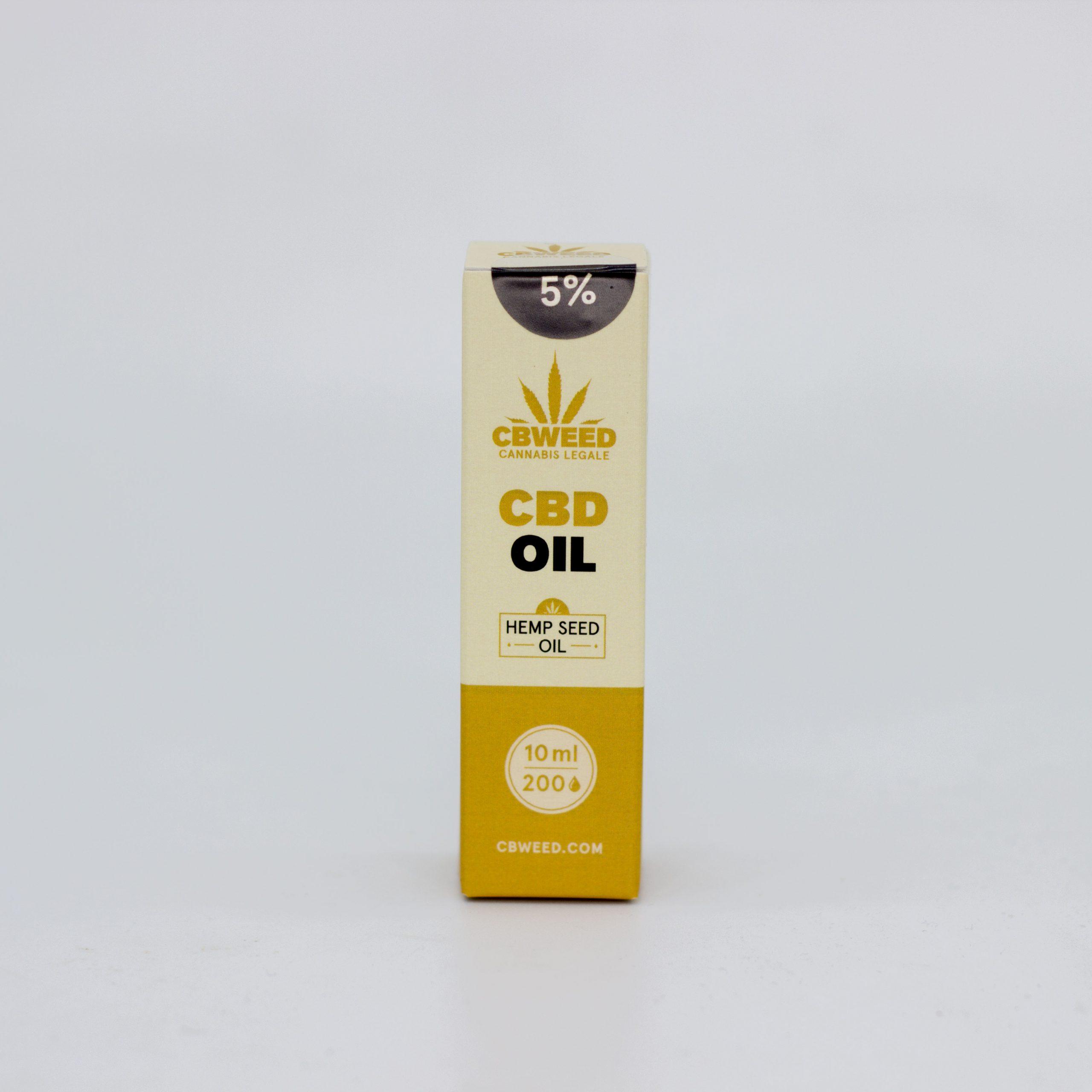 5� olio canapa scaled - Olio CBD con Olio di Semi di Canapa - 5% CBD - 10ml