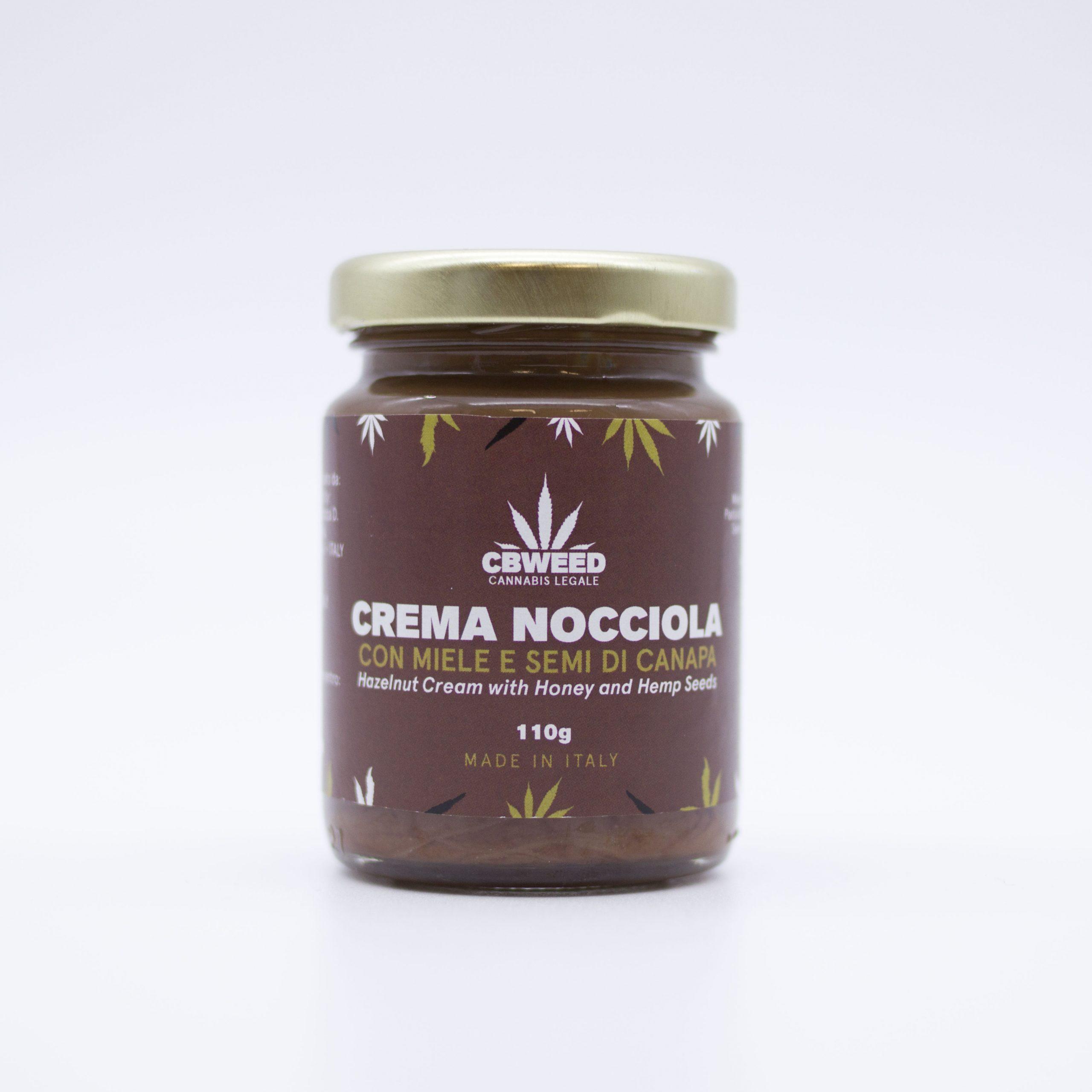 crema nocciola web scaled - Crema alla Nocciola con Miele & Semi di Canapa