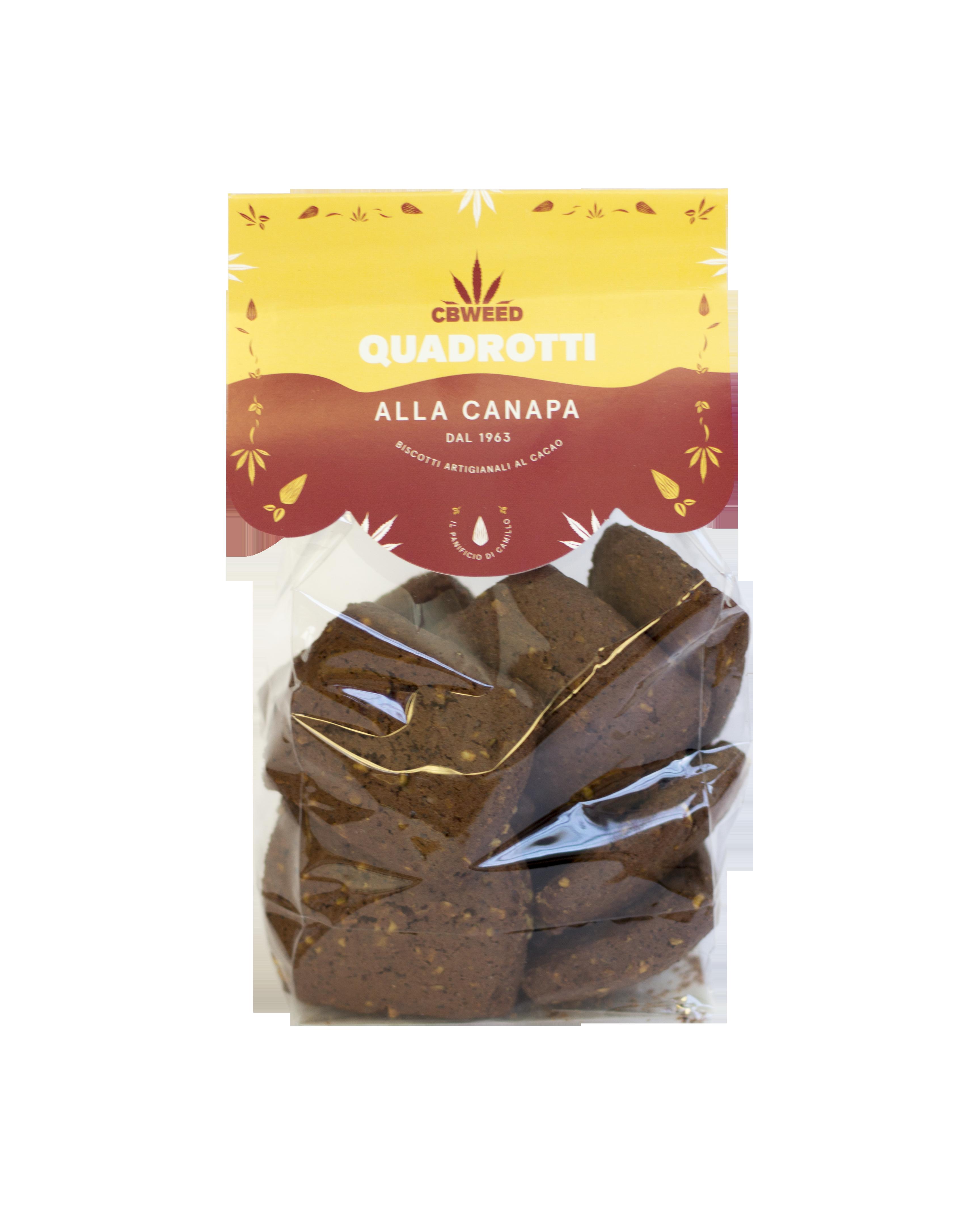 quadrotti - Quadrotti - Biscotti alla Canapa & Cioccolato